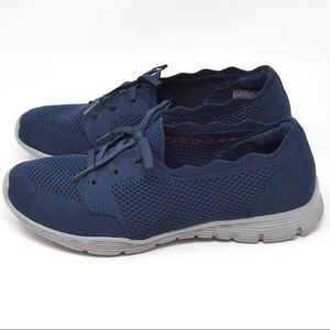 Skechers Seager Knit Slip On Shoes Size 8-1/2 Navy